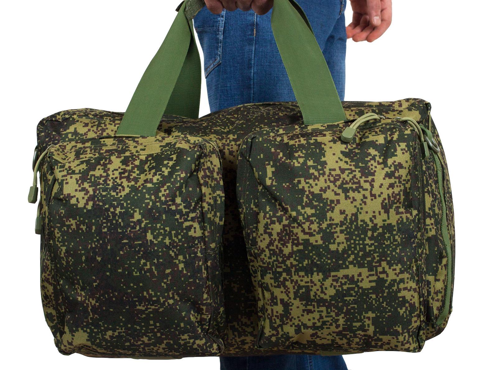 Тактическая камуфляжная сумка с нашивкой Ни пуха, Ни пера - заказать в подарок