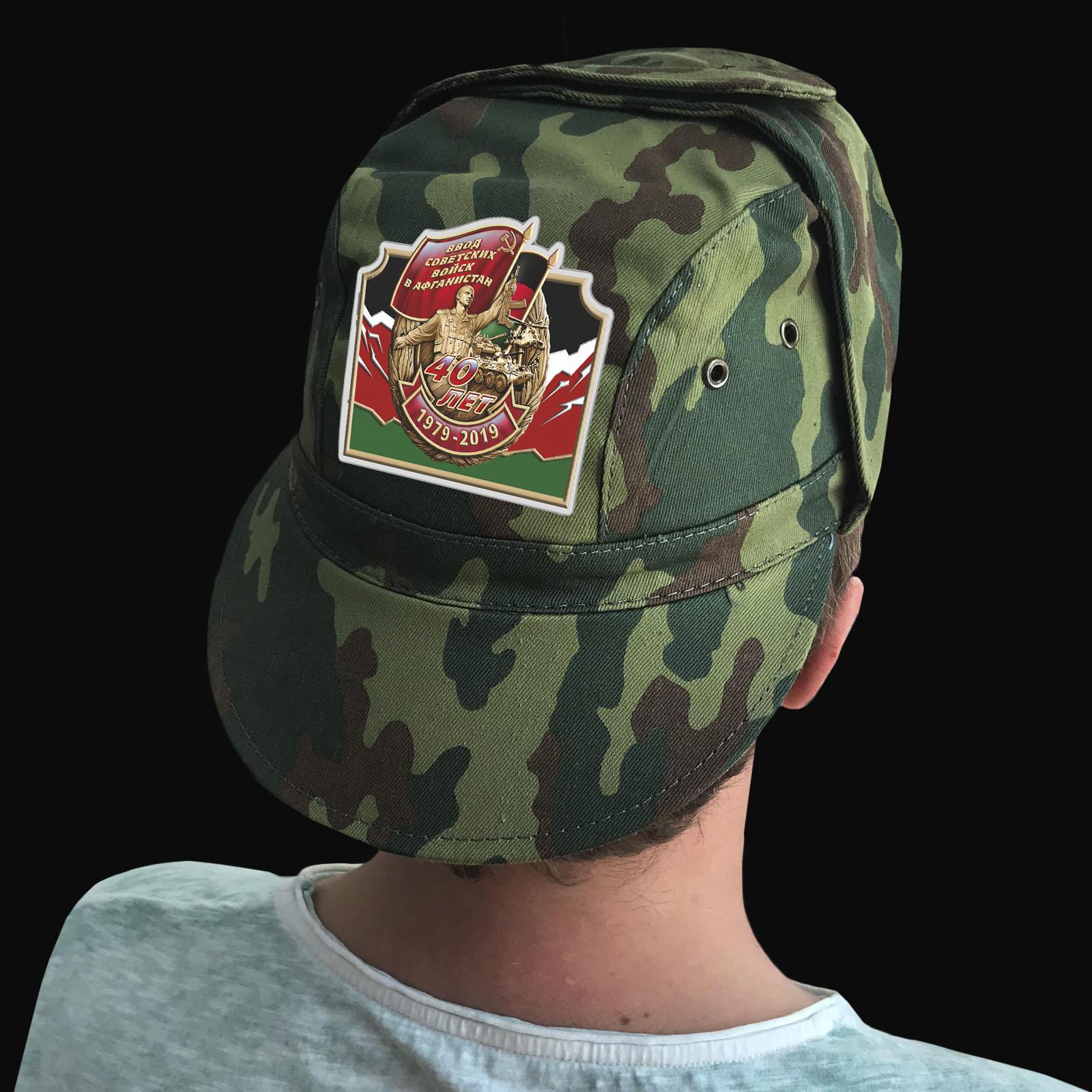 Купить тактическую кепку-камуфляж с афганской термонаклейкой выгодно оптом