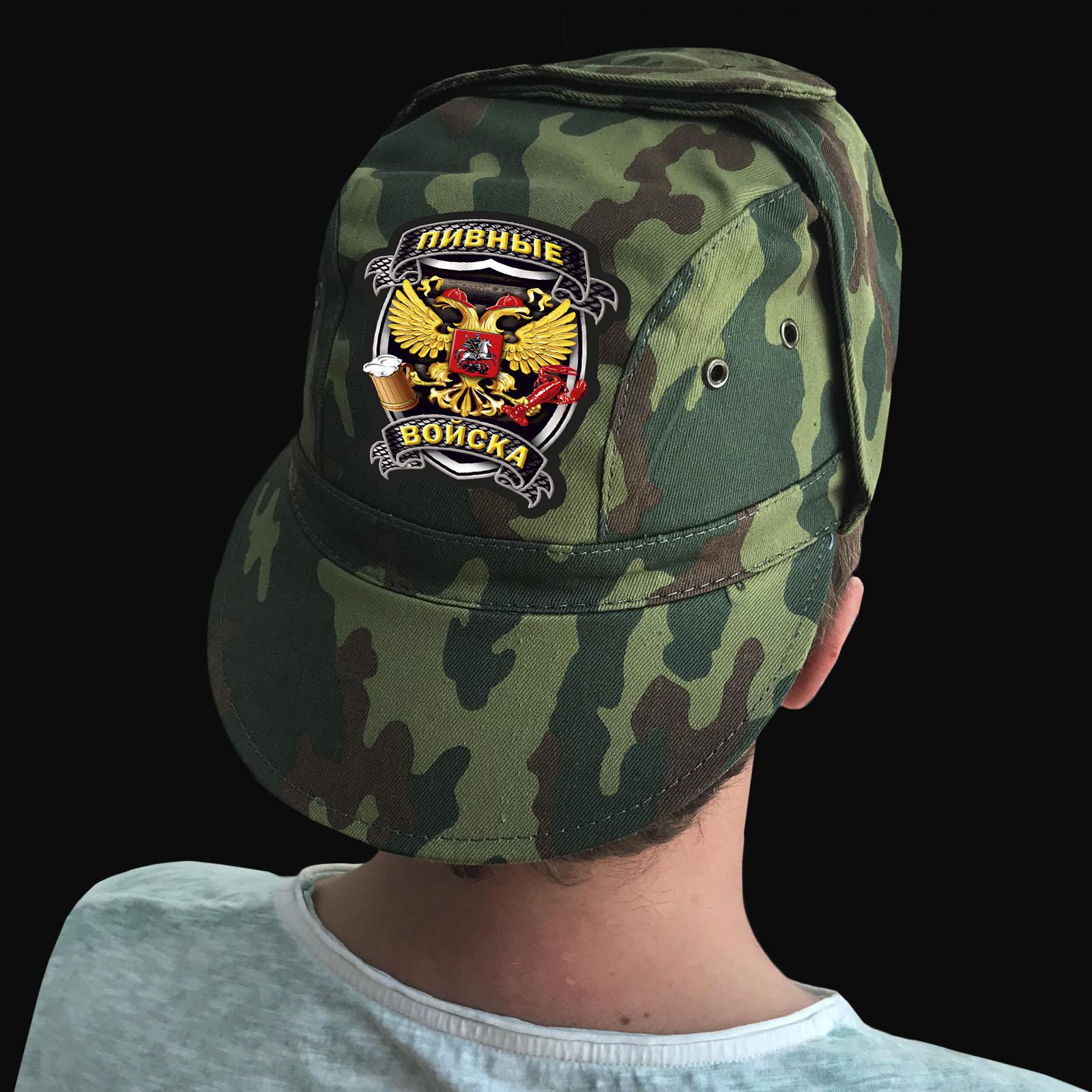 Купить тактическую кепку-камуфляж с термотрансфером Пивных Войск в подарок мужчине