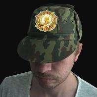 Тактическая кепка-камуфляж с вышитым орденом Маршала Жукова