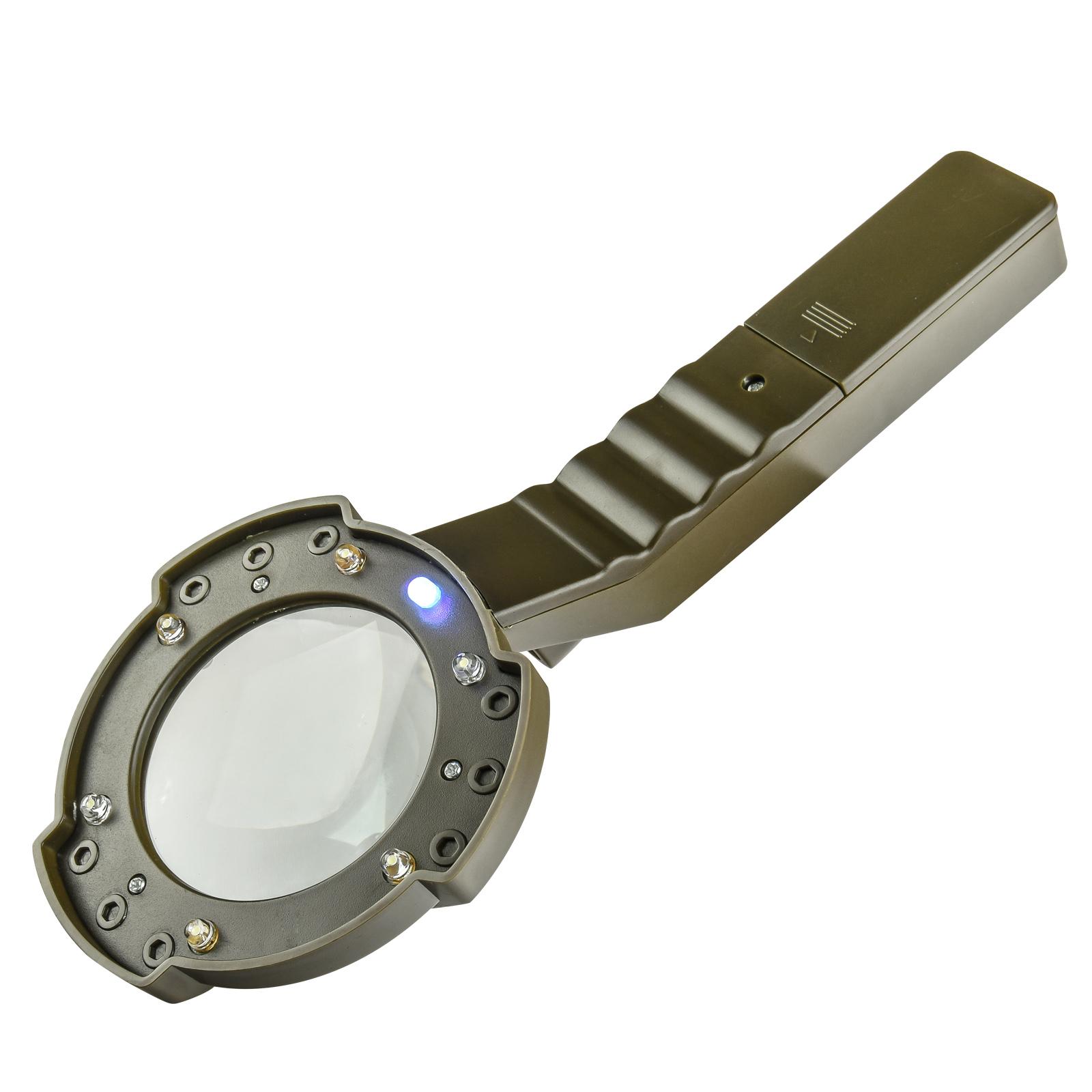 Тактическая лупа с подсветкой и компасом Fineway FW-600