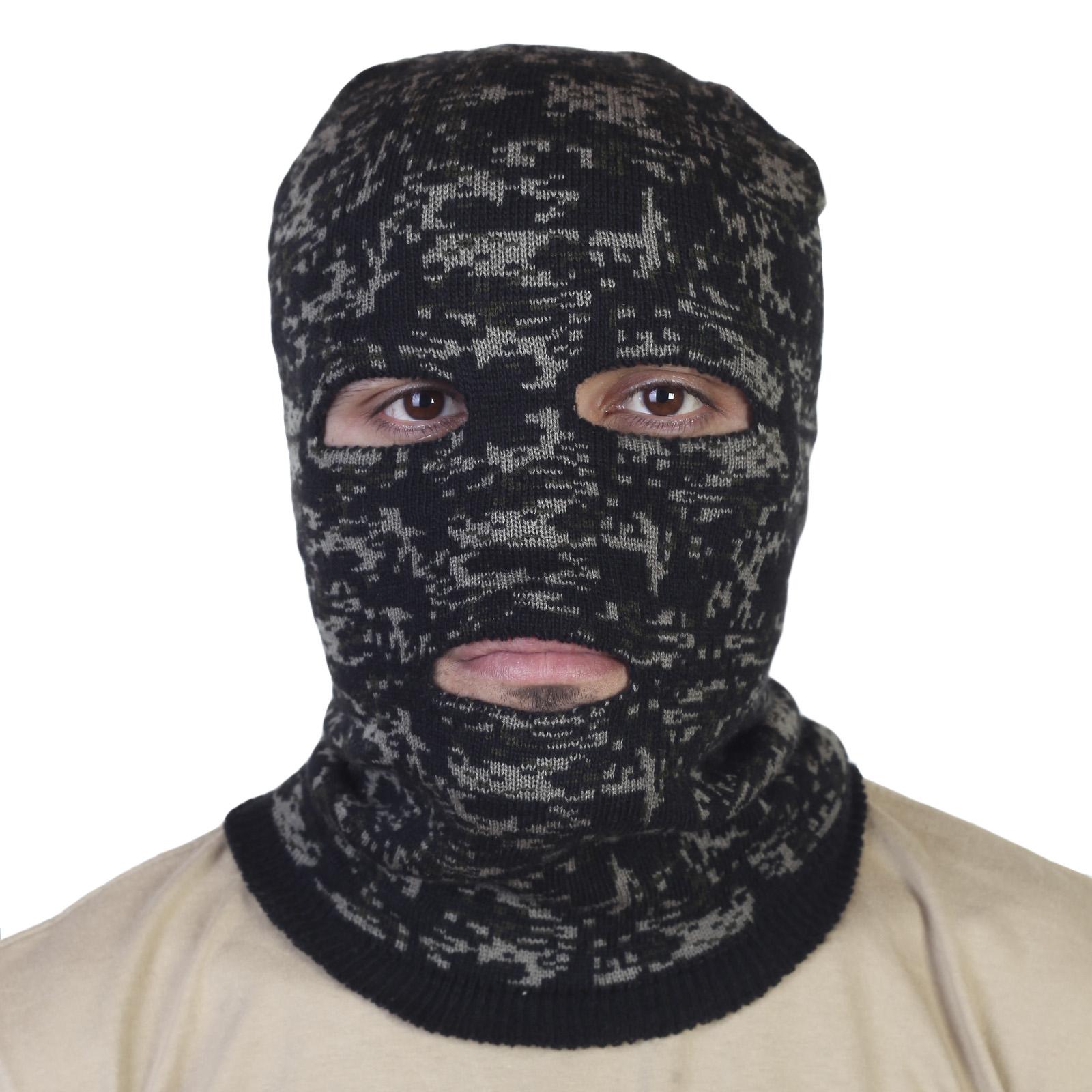 Тактическая маска пиксельный камуфляж