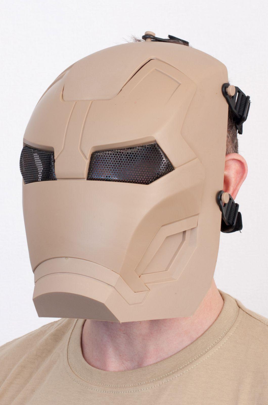 Тактическая маска железного человека для страйкболистов