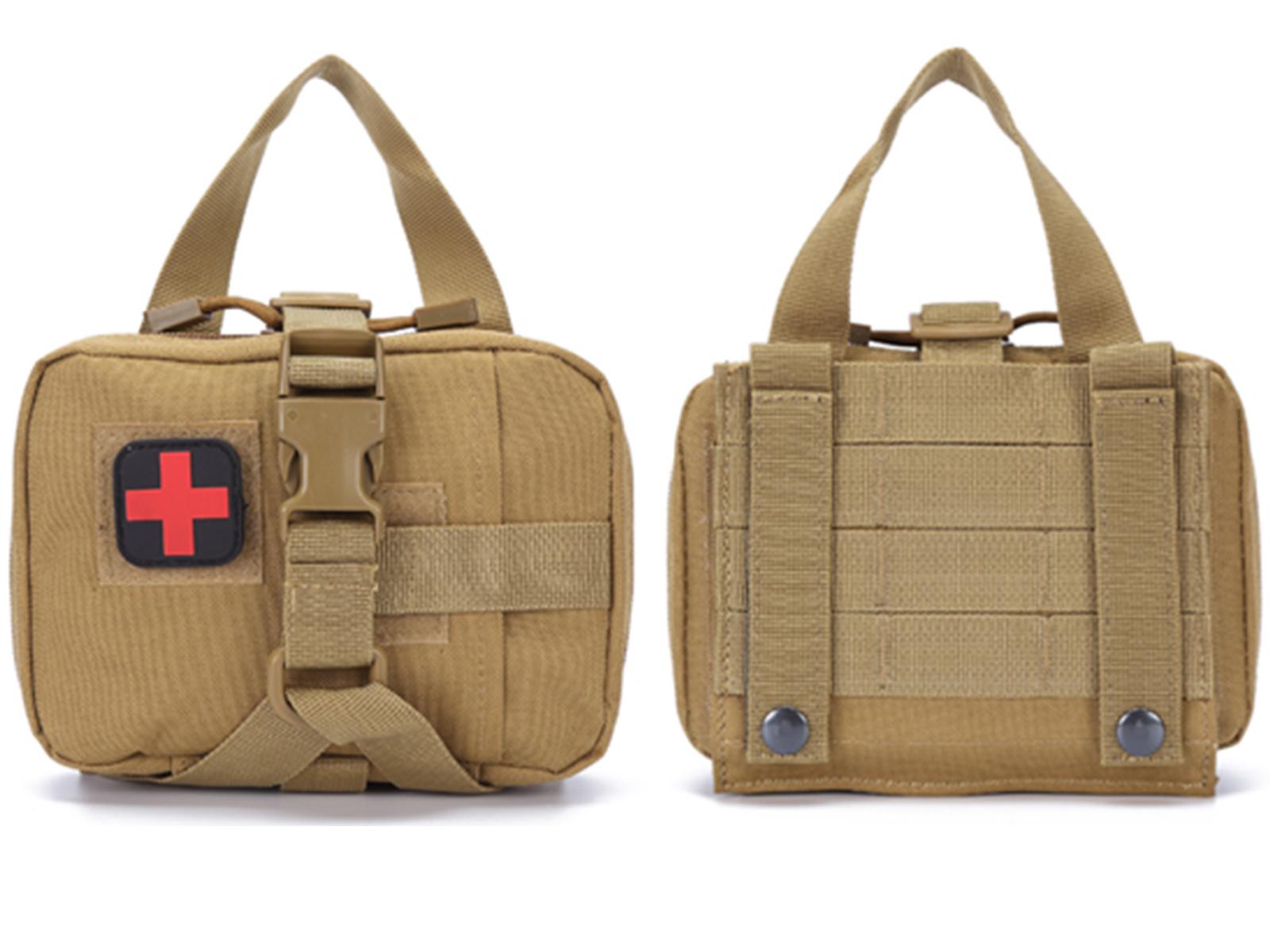Тактическая медицинская аптечка выживания (хаки-песок)