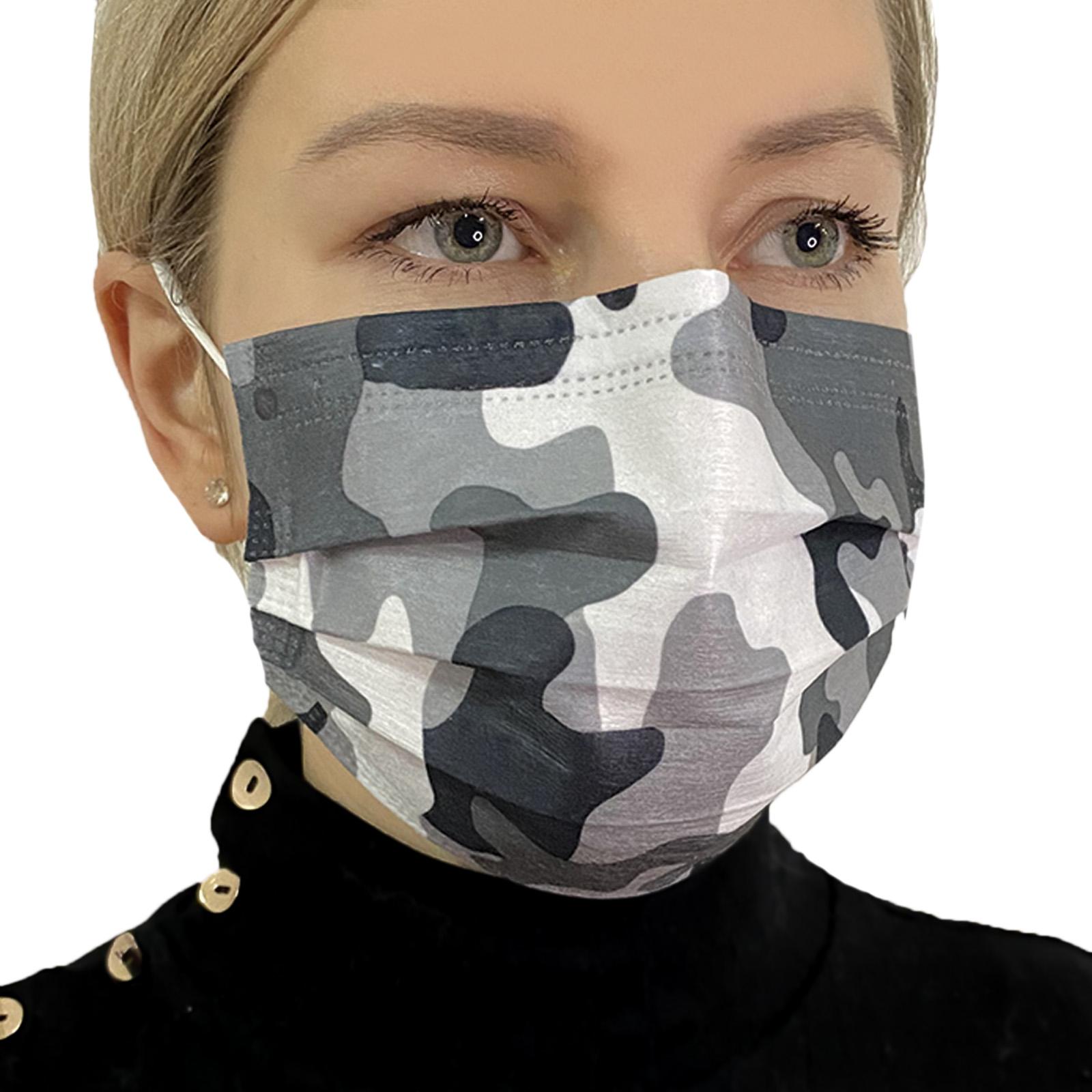 Медицинская маска женская с красивым рисунком