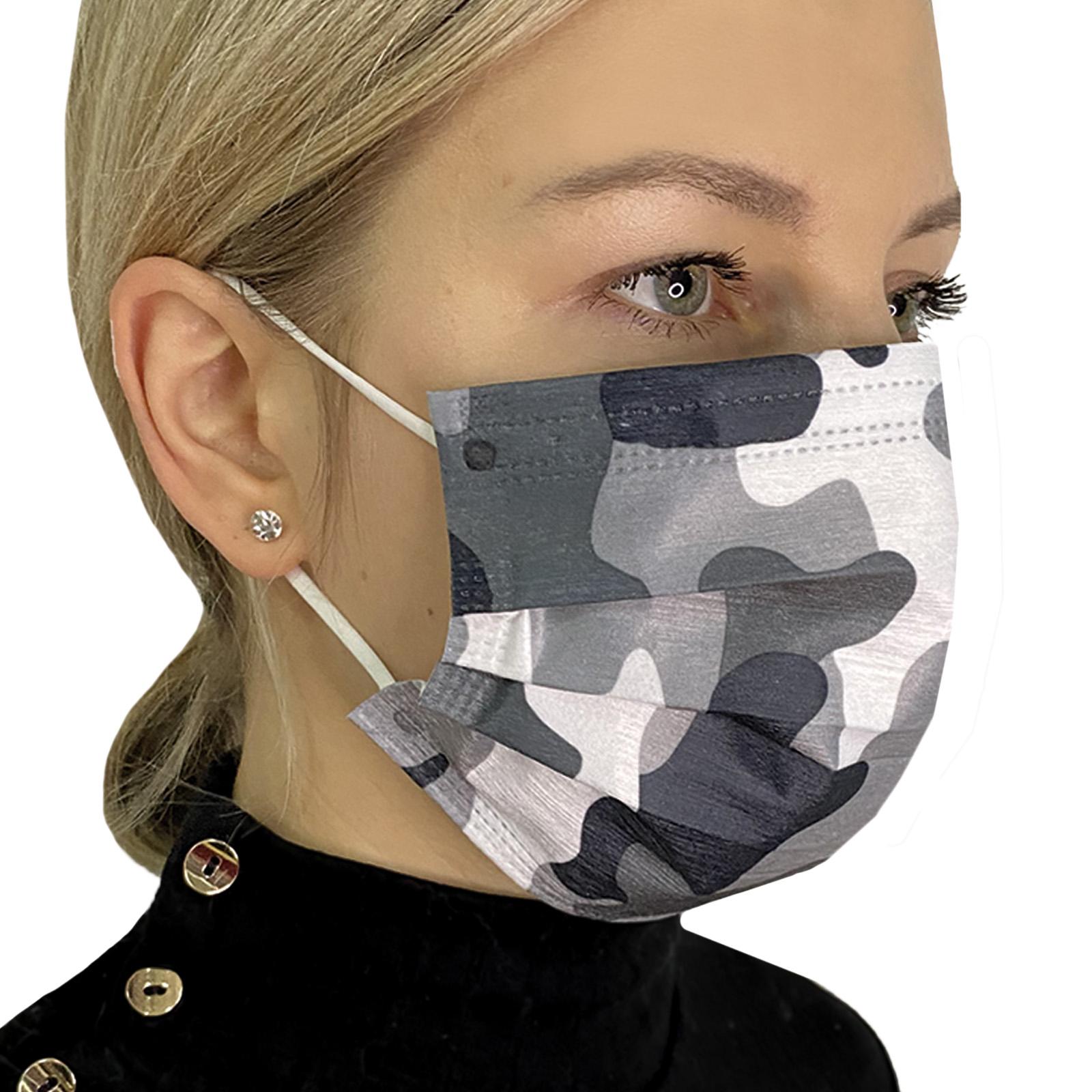Взрослая медицинская маска с камуфляжным рисунком