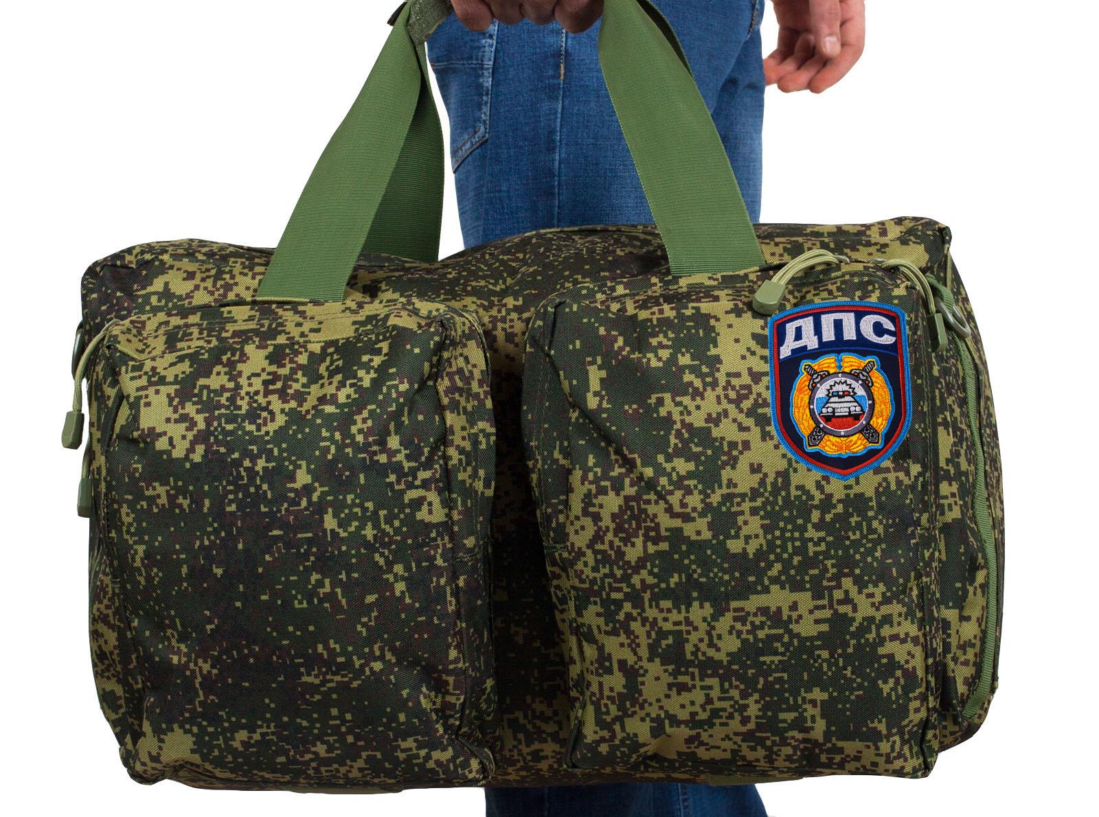 Тактическая мужская сумка-рюкзак с нашивкой ДПС - купить онлайн