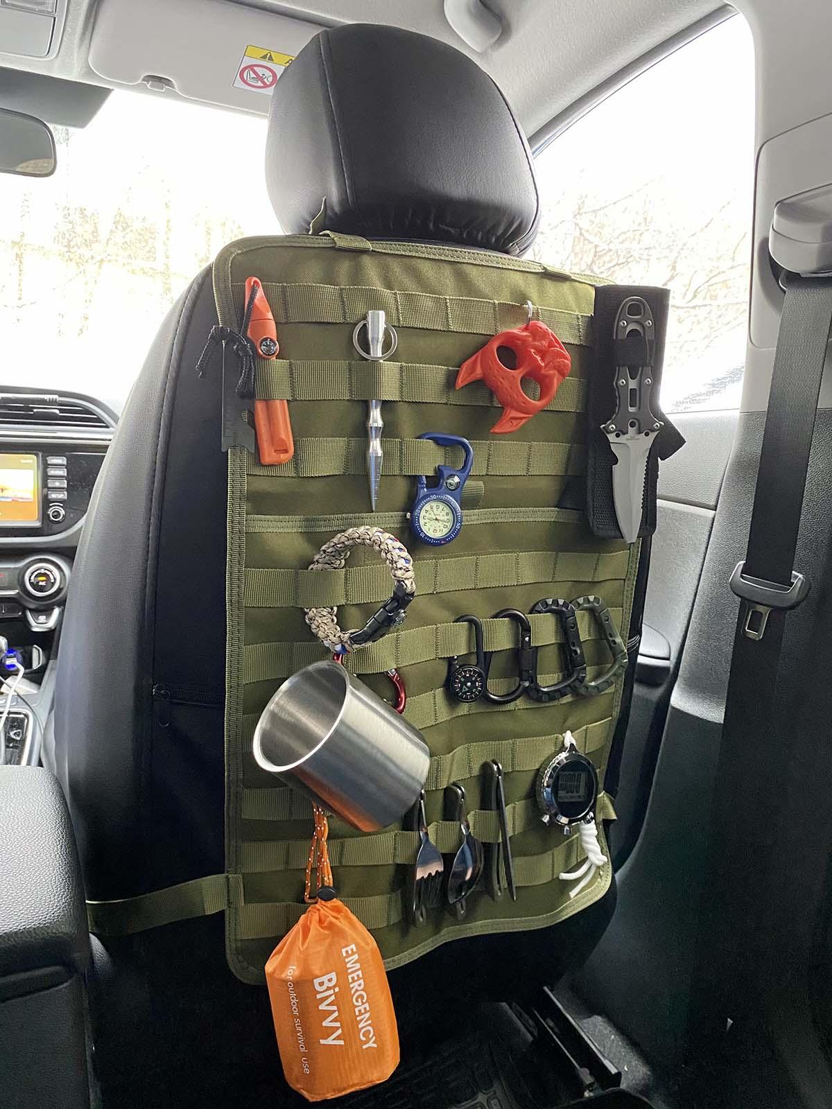 Тактическая накидка на спинку сиденья автомобиля (хаки-олива)