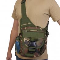 Тактическая плечевая сумка (камуфляж Woodland)