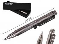 Тактическая ручка со стеклобоем серая