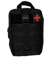 Тактическая сумка-аптечка полиции и спецназа (черная)