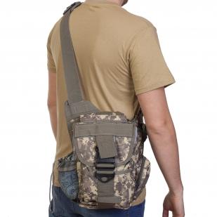 Тактическая сумка через плечо (камуфляж ACU)