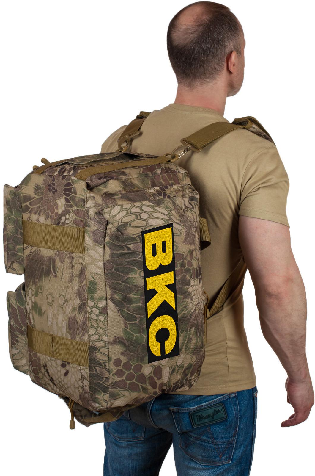 Купить тактическую сумку для походов с нашивкой ВКС по лучшей цене