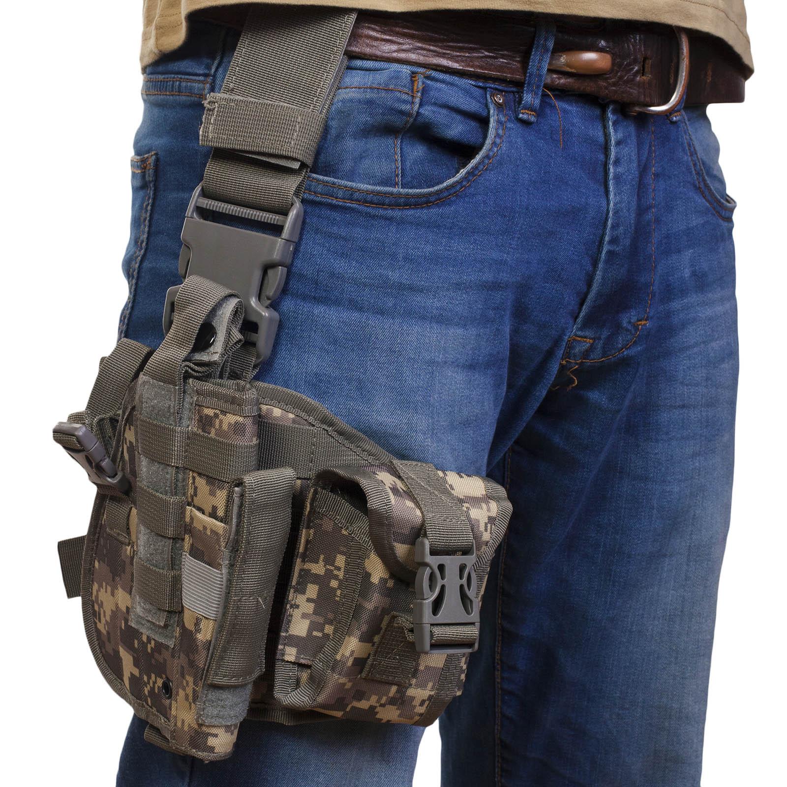 Тактическая сумка кобура набедренная, камуфляж ACU