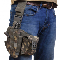 Тактическая сумка кобура набедренная (камуфляж ACU)