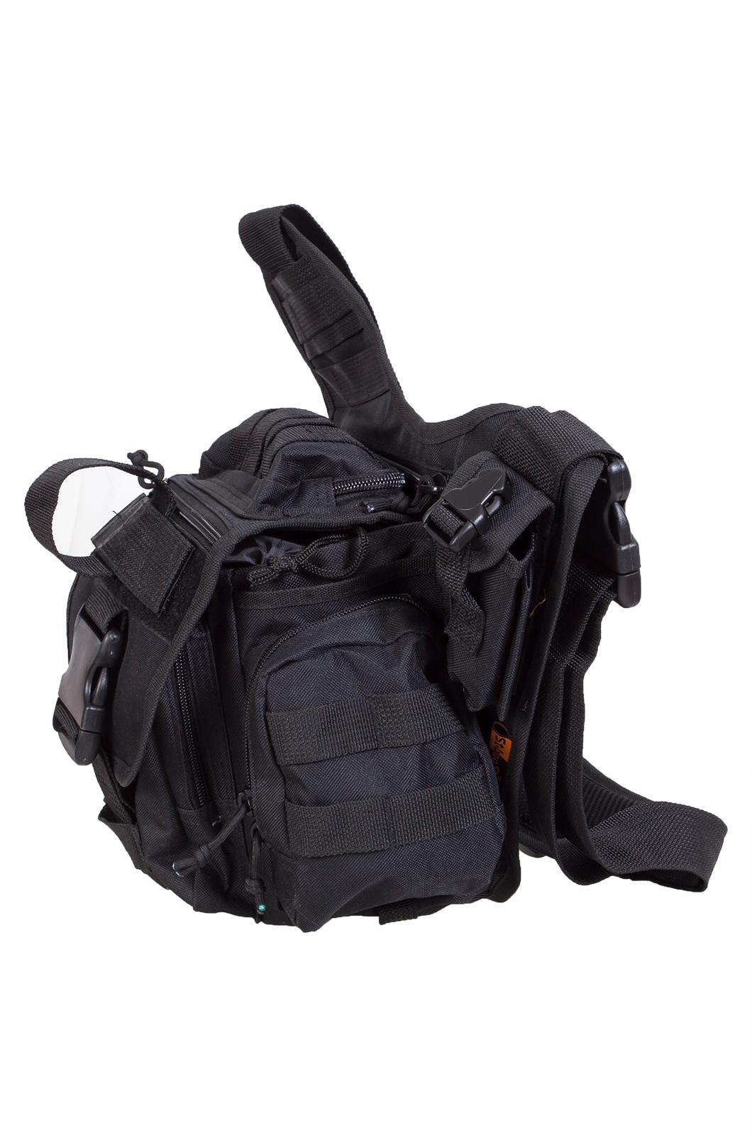 Тактическая сумка на плечо черная