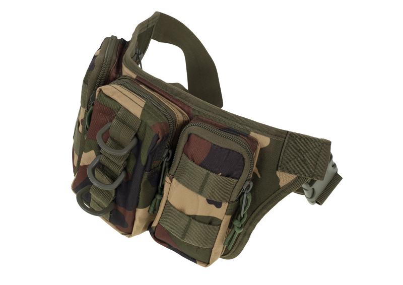 Тактическая сумка на пояс камуфляж Woodland