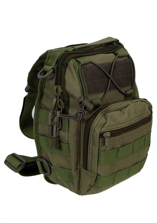 Тактическая сумка-рюкзак хаки-олива