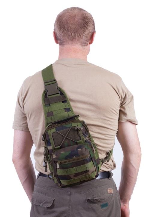 Тактическая сумка-рюкзак камуфляж Woodland