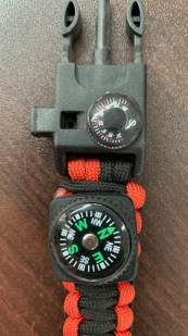 Тактические часы с браслетом выживания