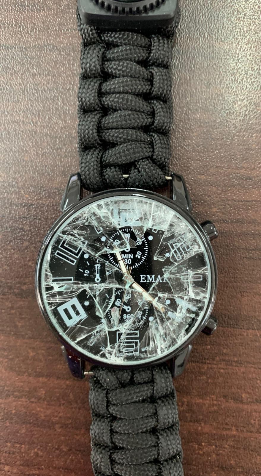 Тактические часы с функциональным браслетом из паракорда