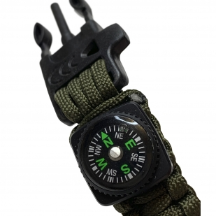 Тактические часы с функциональным браслетом выживания