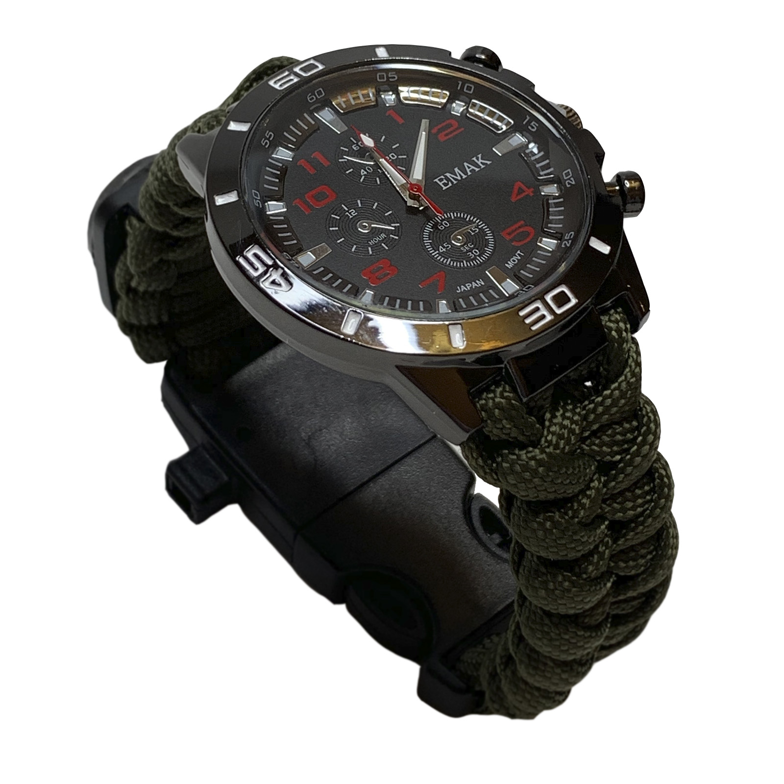 Тактические часы с камуфляжным браслетом из паракорда