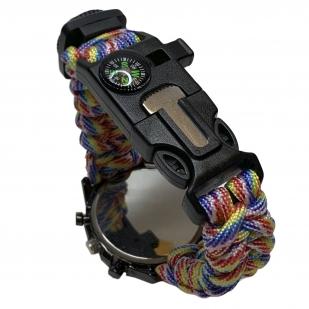 Тактические часы с ярким браслетом