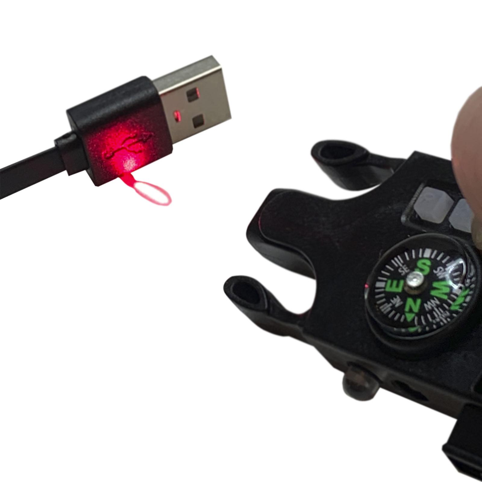 Тактические часы выживания с паракордовым браслетом