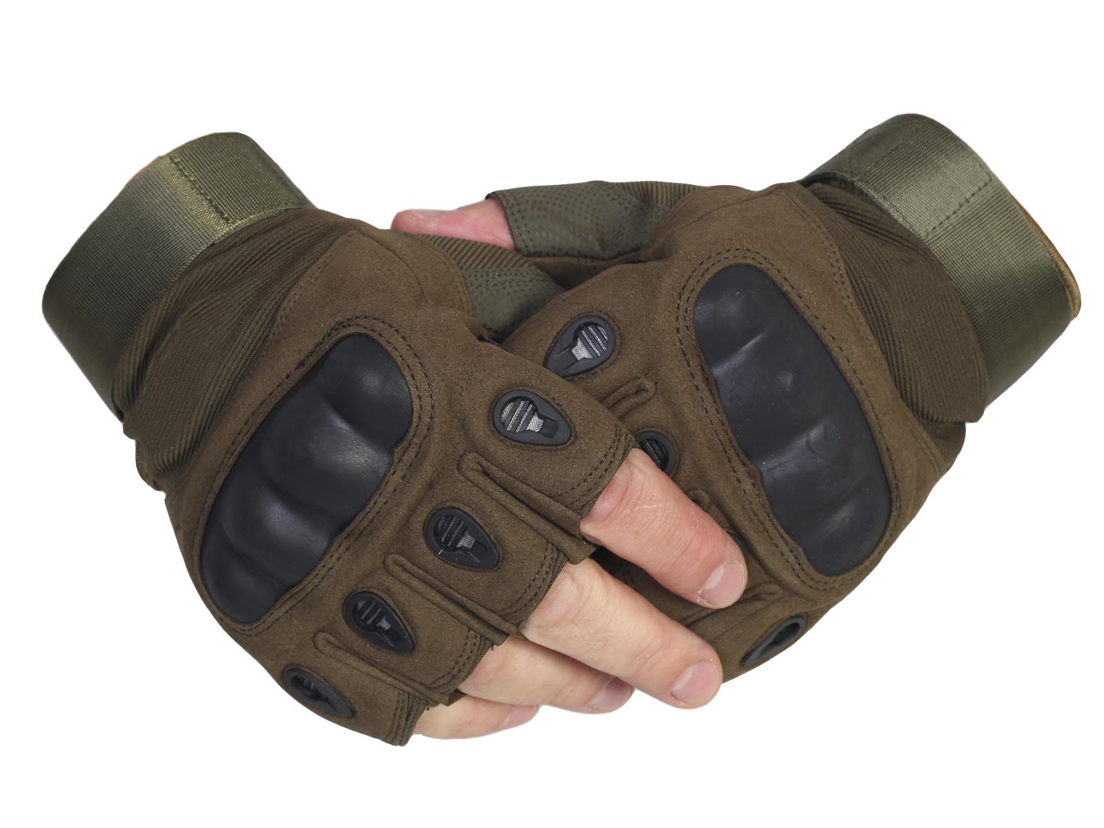Купить по скидке тактические армейские перчатки без пальцев