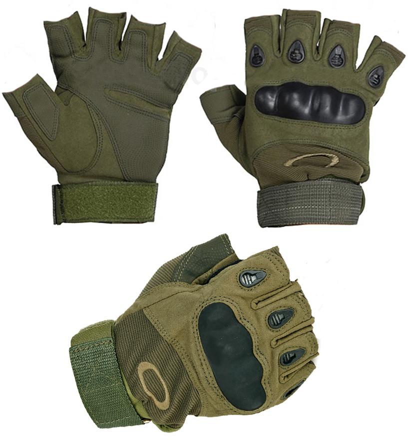 Тактические кевларовые перчатки Окли-аверс и реверс