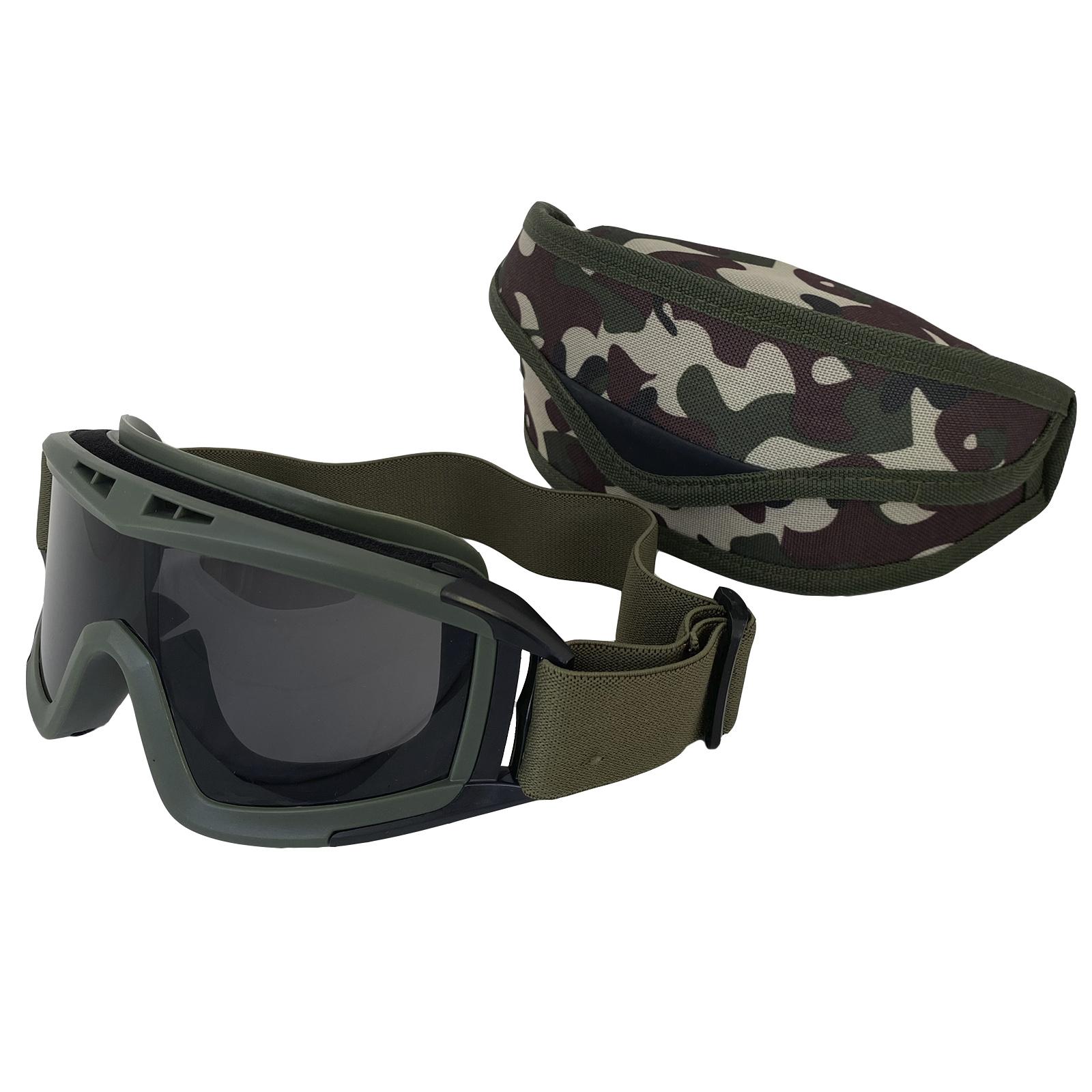 Тактические очки для страйкбола (хаки-олива)