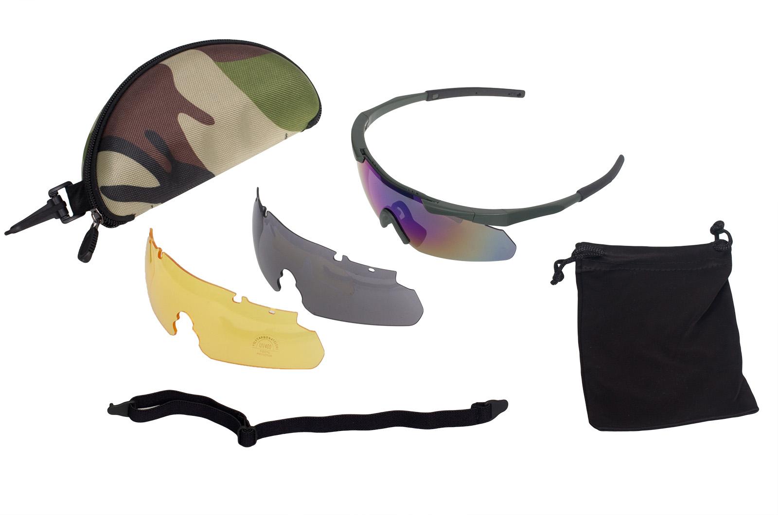 Купить тактические очки с 3 сменными линзами по выгодной цене