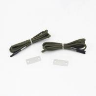 Тактические паракордовые шнурки с огнивом (олива)