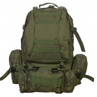Тактический армейский рюкзак с подсумками (45 литров, олива)