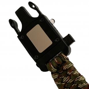 Тактический браслет из паракорда с компасом