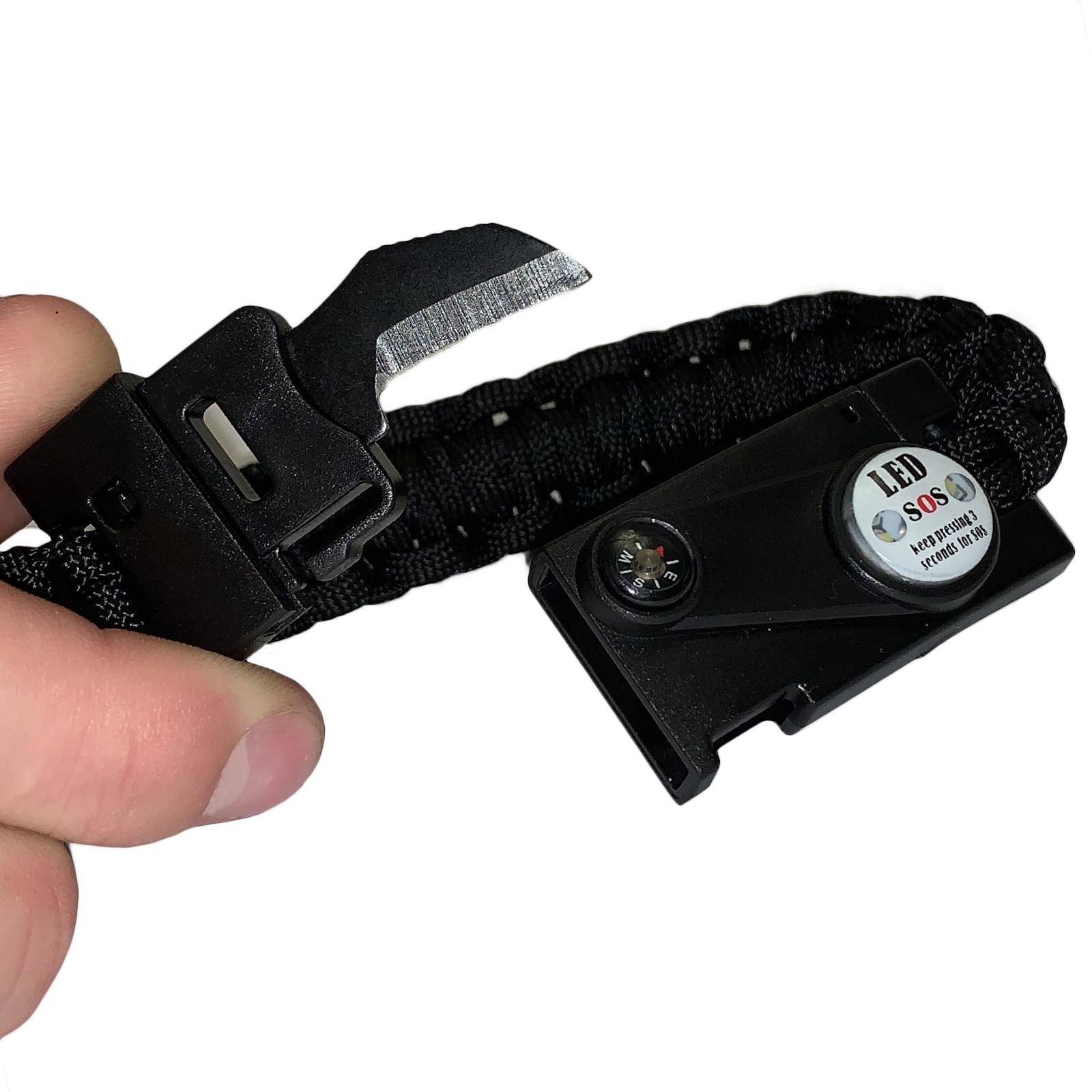 Тактический браслет с ножом и огнивом