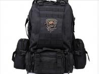 Тактический черный рюкзак нашивкой Рыболовных войск