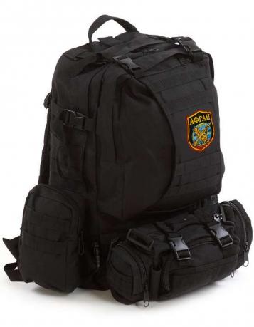 Тактический черный рюкзак с нашивкой Афган - купить выгодно