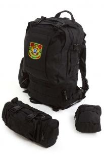 Тактический черный рюкзак с нашивкой Пограничная служба - заказать оптом