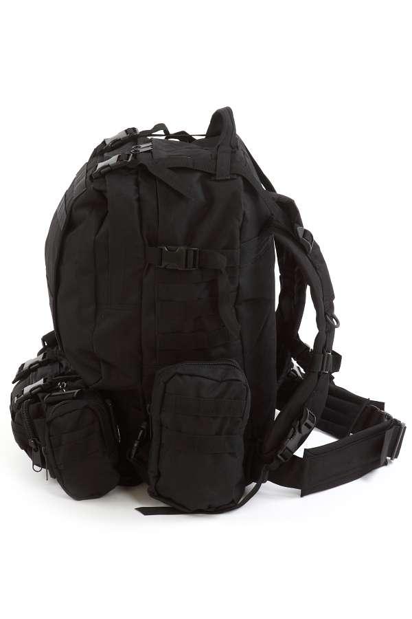 Тактический черный рюкзак с нашивкой Пограничная служба - купить с доставкой