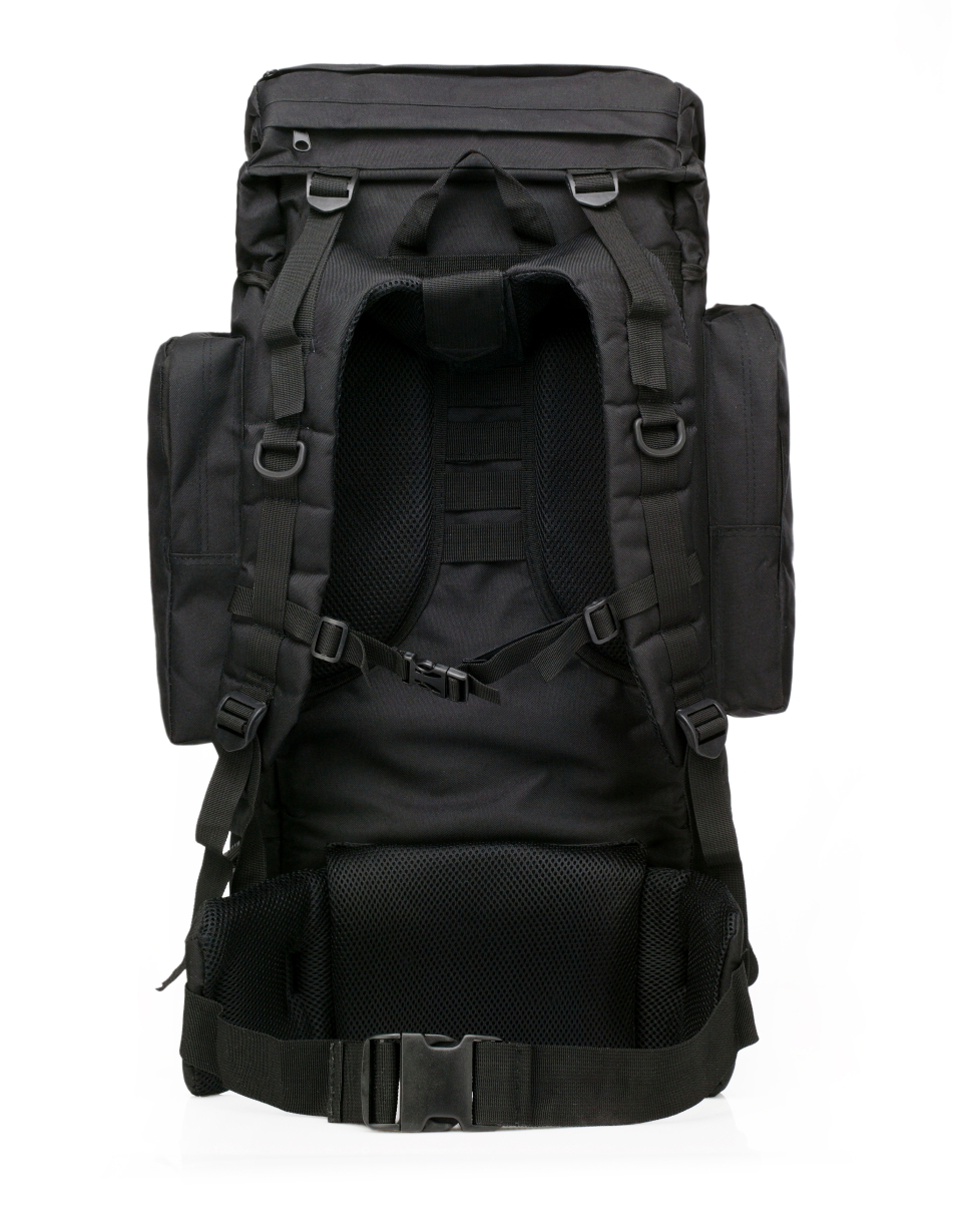 Тактический черный рюкзак с шевроном РХБЗ купить оптом
