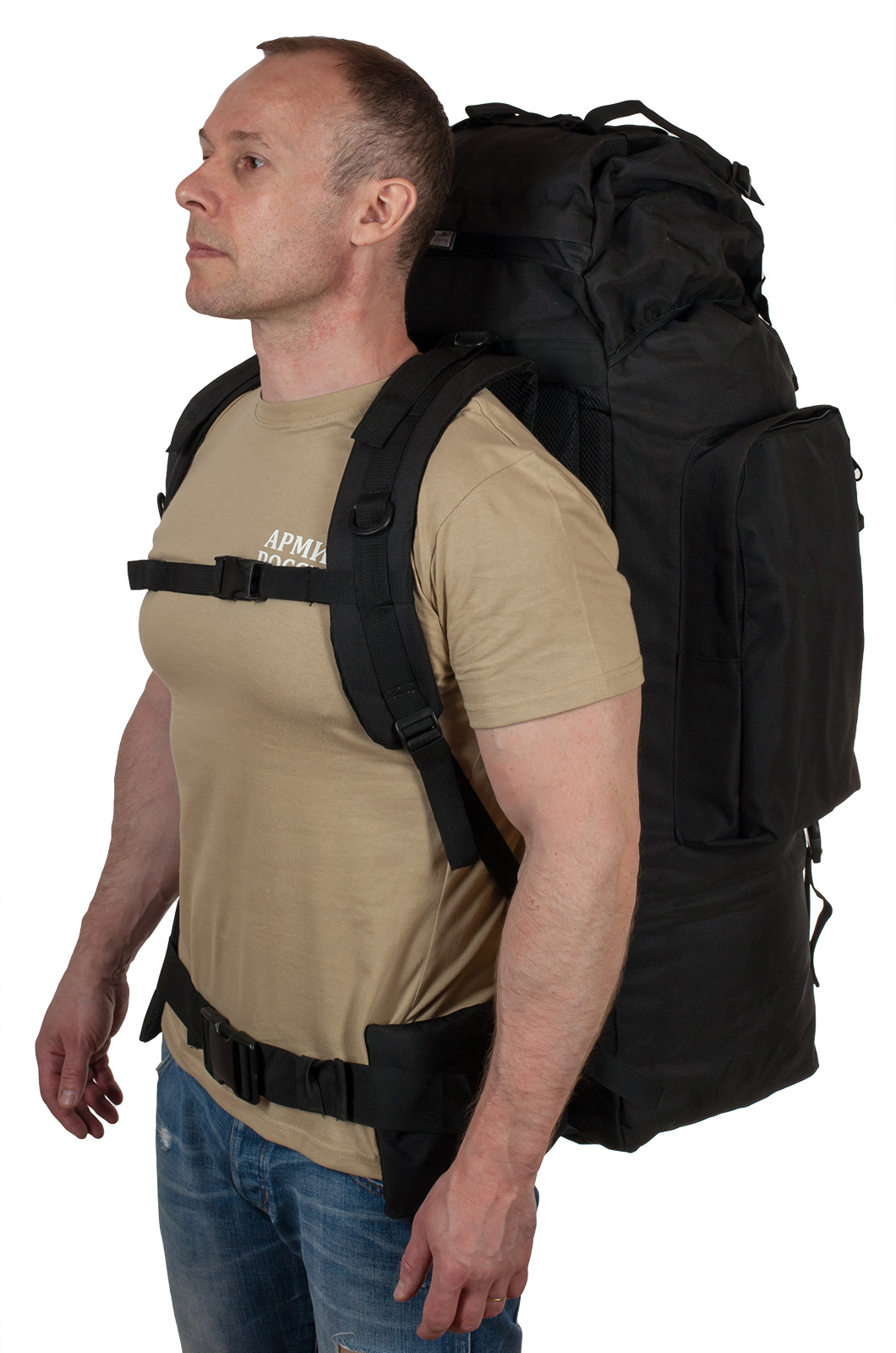 Тактический черный рюкзак с шевроном РХБЗ купить онлайн