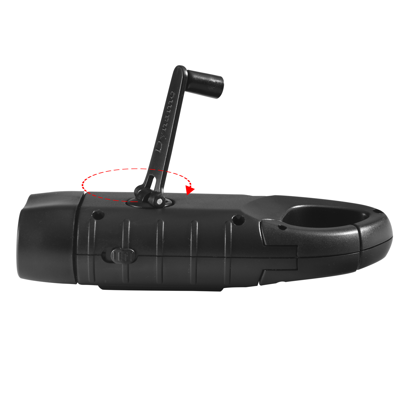 Тактический фонарь спецназа Dynamo Solar Tac Flashlight Black