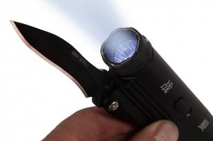 Тактический фонарик с ножом H-8 с электрошокером