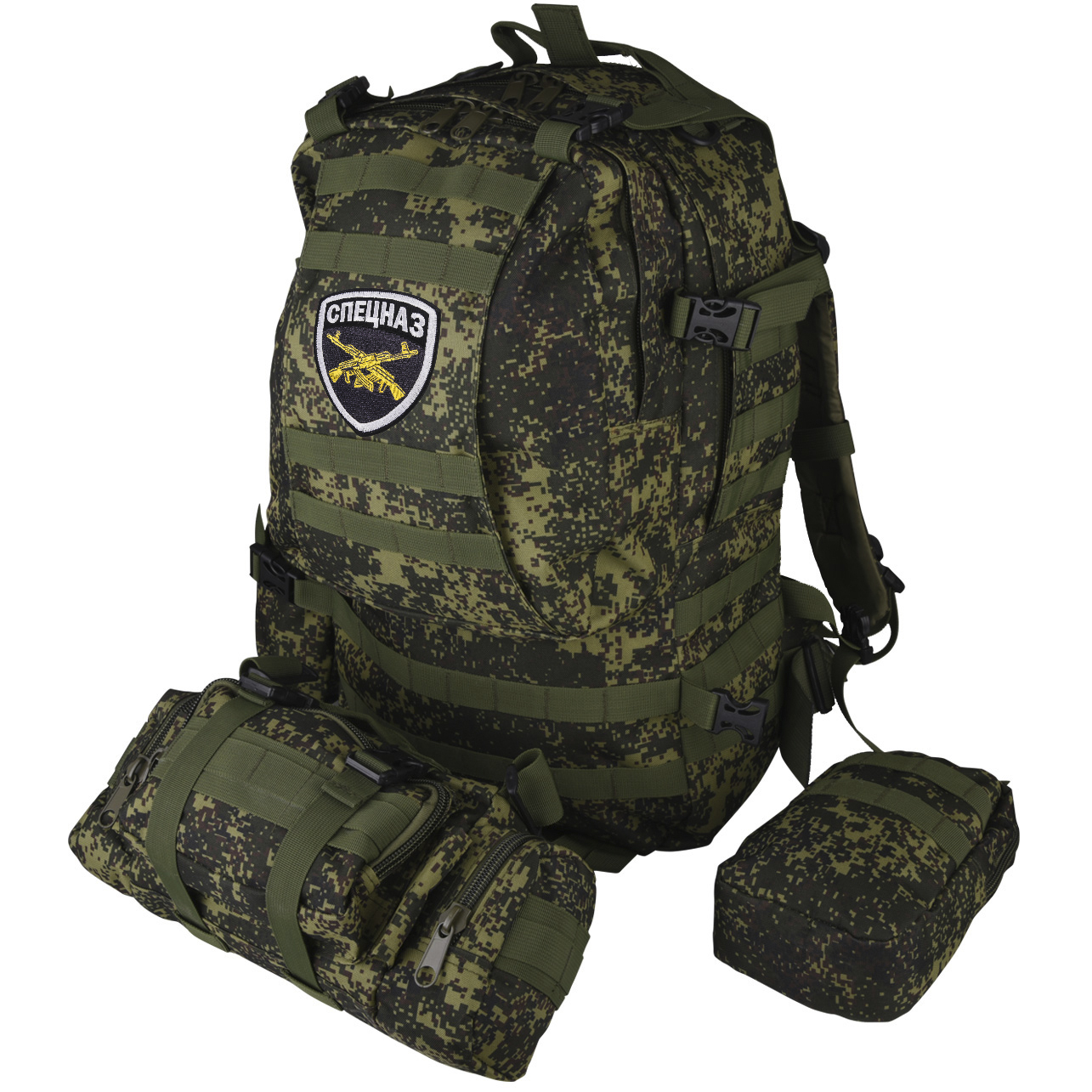 Тактический камуфляжный рюкзак с нашивкой Спецназ - купить в подарок