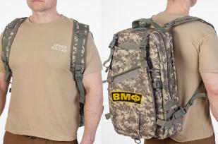Тактический камуфляжный рюкзак с нашивкой ВМФ - заказать с доставкой