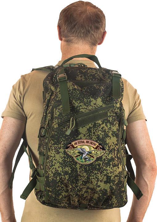 Надежный мужской рюкзак с нашивкой Ни Пуха ни Пера - купить онлайн