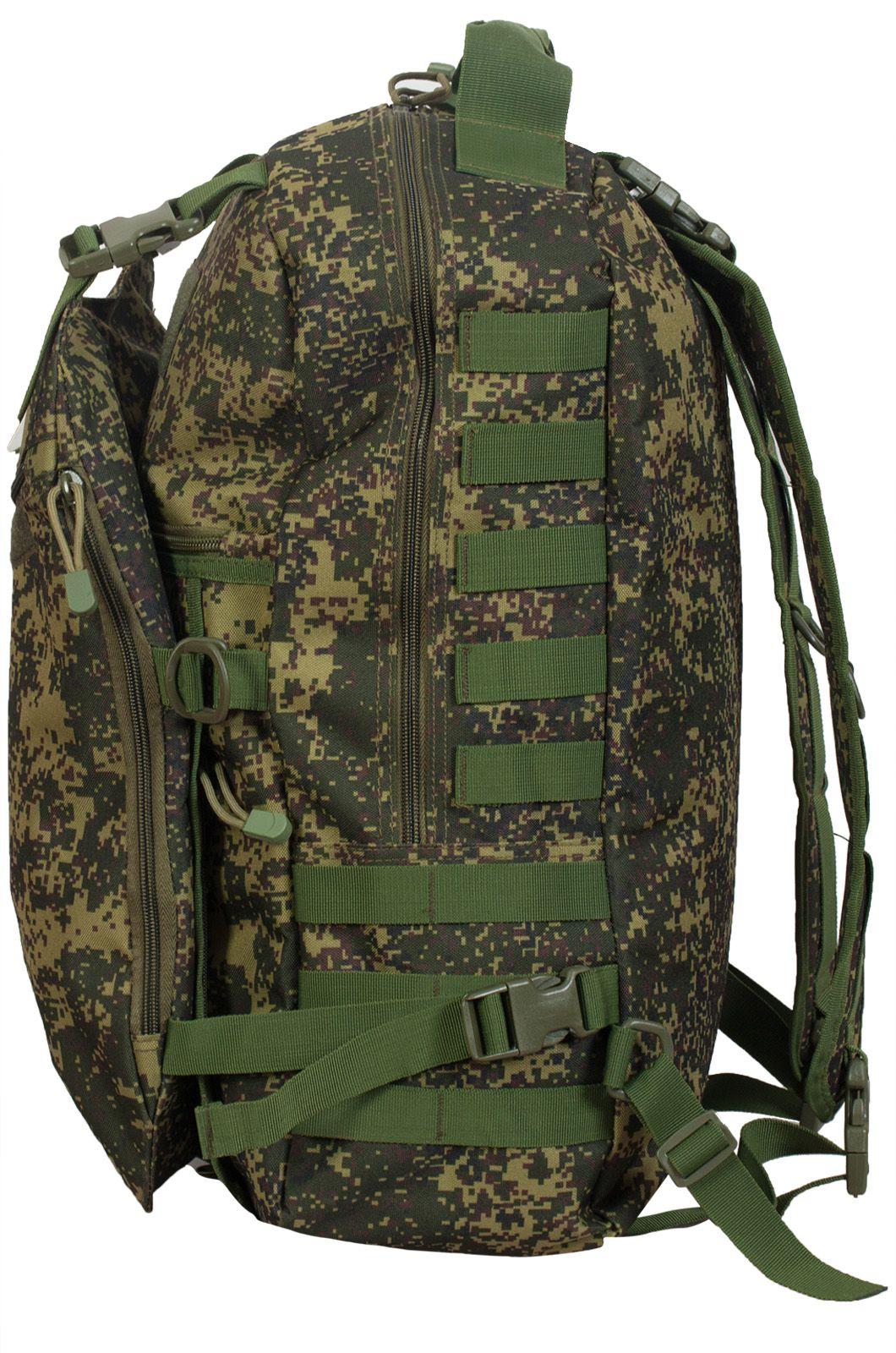 Надежный мужской рюкзак с нашивкой Ни Пуха ни Пера - купить в розницу