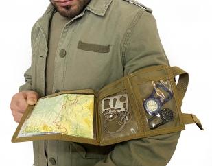 Тактический наручный планшет MOLLE (хаки-песок)